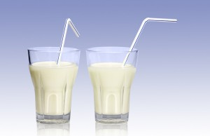 milk glasses