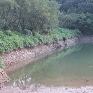 減水した上堤